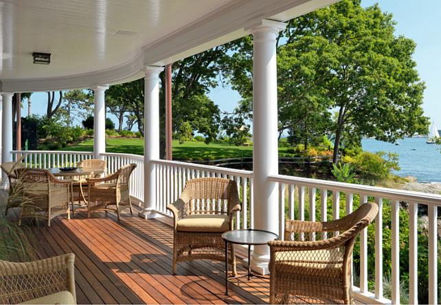 Porch. Porch with ocean views. #PorchDesign #PorchDecor