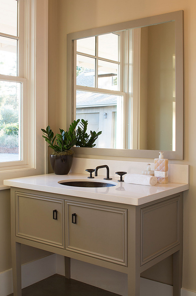 Powder Room Cabinet Ideas. Powder Room Vanity Cabinet. #PowderRoom #PowderRoomcabinet Artistic Designs for Living.