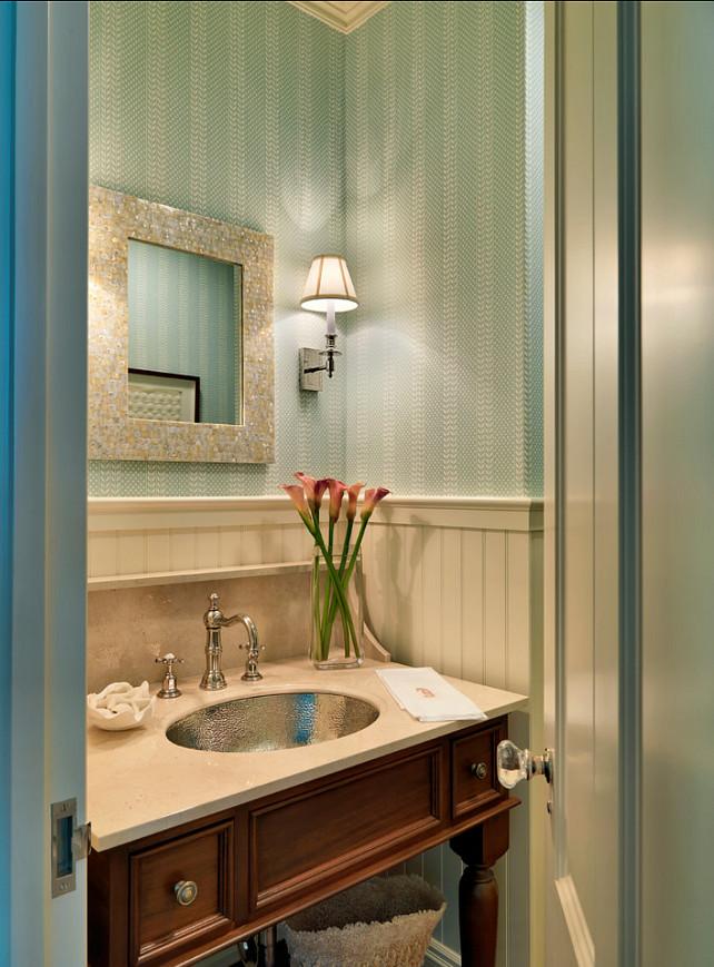 Powder Room. Classic Powder Room Design. #PowderRoom