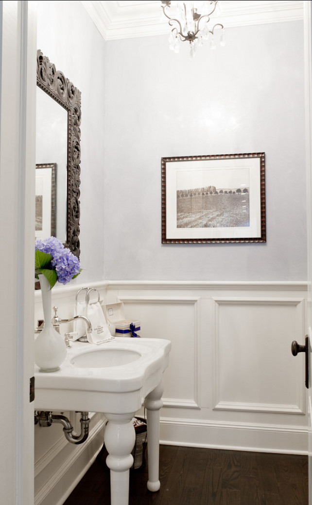 Powder Room. Classic Powder room design. #PowderRoom #Bathroom