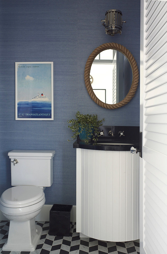 Latest coastal living showhouse home bunch interior for Powder blue bathroom ideas