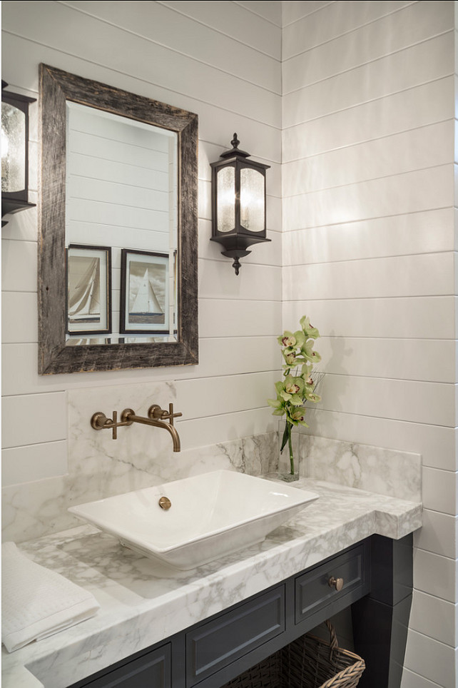 Powder Room. Powder Room Ideas. #PowderRoom
