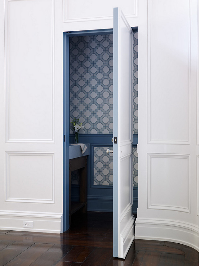 Powder Room. Powder room in tucked under staircase. #PowderRoom Cronk Duch Architecture.