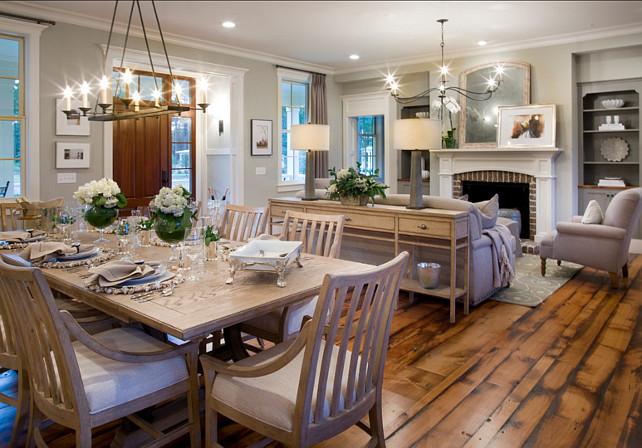 Reclaimed Hardwood Floor Ideas. The floors are reclaimed beech wood. #ReclaimedFloors
