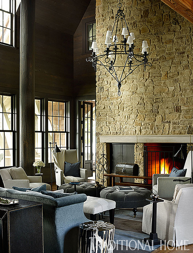 Lake house with rustic interiors home bunch interior for Lake house interior designs