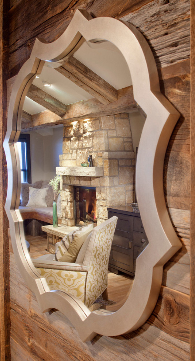 Rustic cabin with beautiful interiors. Kristine Pivarnik Design, LLC.