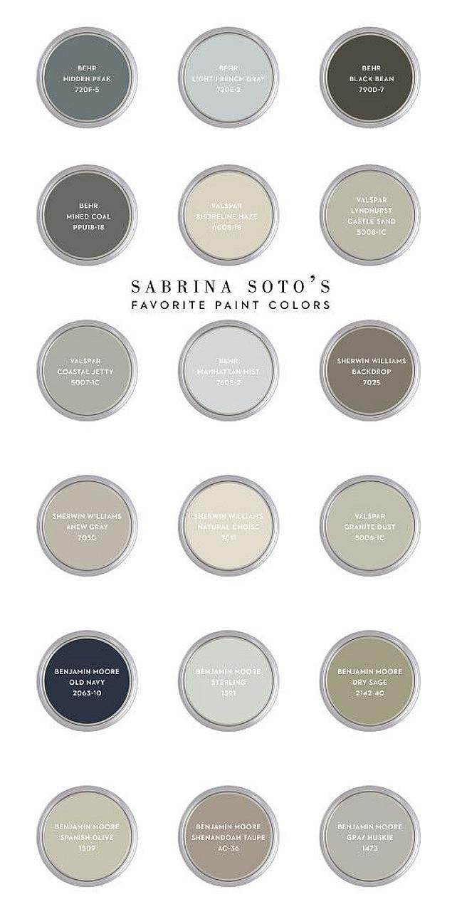 Sabrina Soto Favorite Paint Colors. Sabrina Soto Color Palette Ideas. #SabrinaSotto #SabrinaSottoPaintColors #SabrinaSottoColorPalette Via CASA & Company.