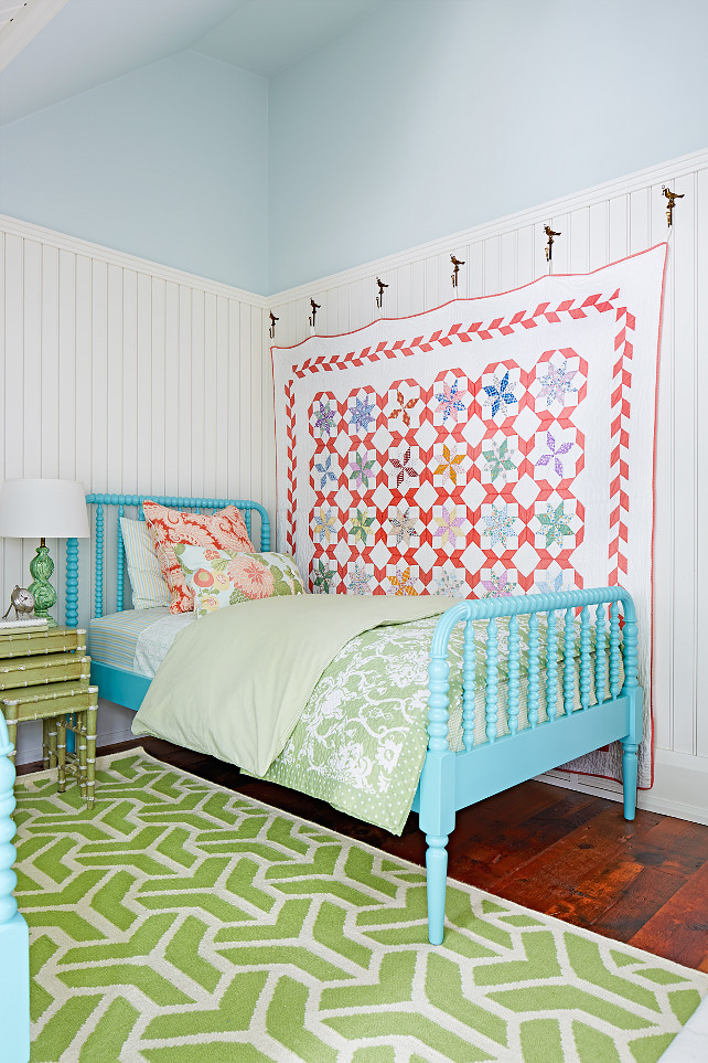 Sarah Richardson Bedroom. Sarah Richardson Bedroom Design. Sarah Richardson Bedroom Ideas. Turquoise Bed. The turquoise bed is the Jenny Lind Bed from Land of Nod. Designed by Sarah Richardson.
