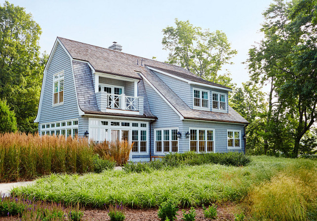 Sarah Richardson's Cottage. New Sarah Richardson's Cottage. Shaker Siding Cottage. Exterior The home's exterior features moody blue-gray cedar shake siding, along with a cedar shake roof. Sarah Richardson Cottage. #SarahRichardson #Cottage Designed by Sarah Richardson.