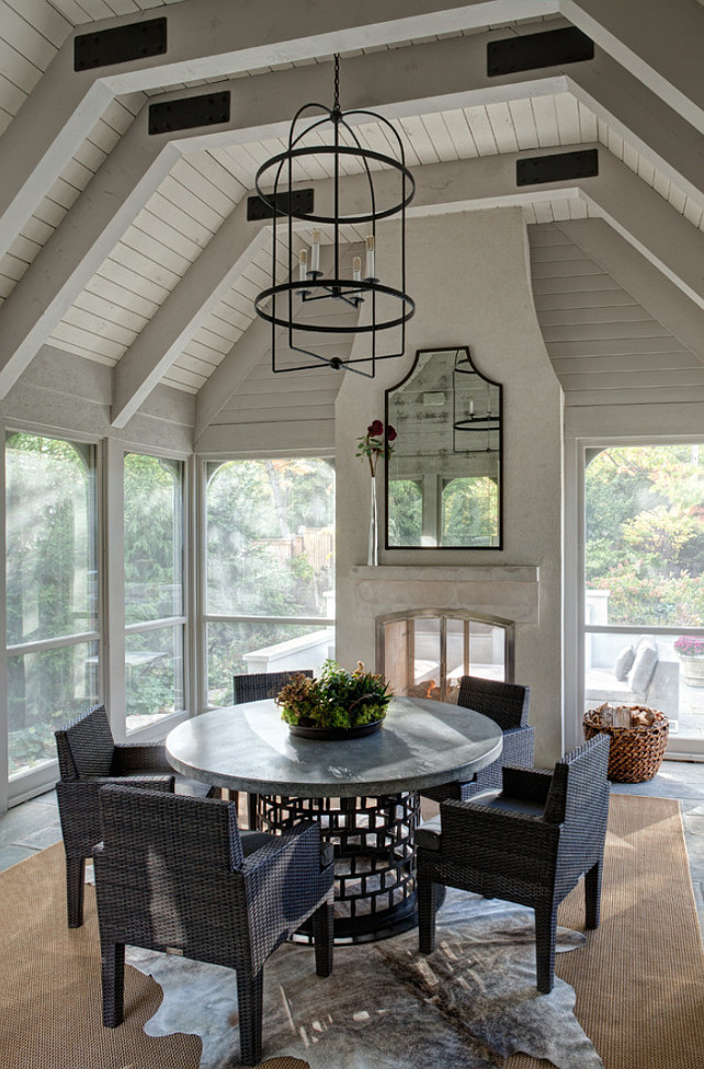 Screened Porch. Screened Porch with Fireplace #ScreenedPorch  Fraerman Associates Architecture.