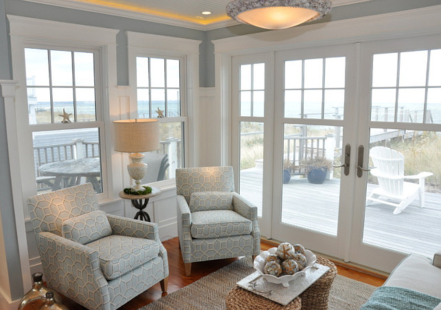 Dream beach cottage with neutral coastal decor home for Sitting area ideas