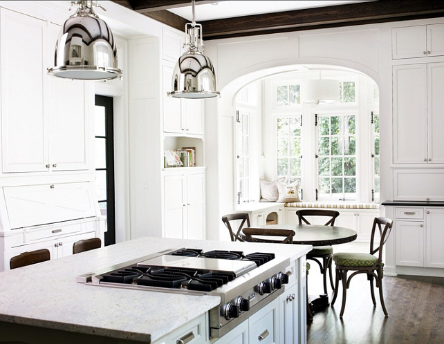 """Sherwin Williams Paint Colors. Sherwin Williams Alabaster SW7008. Cabinetry Paint color is """"Sherwin Williams Alabaster SW7008"""". #SherwinWilliams #Alabaster #SW7008"""