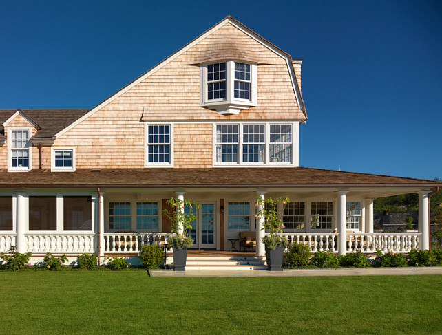 Shingle Home Exterior Design Ideas. Shingle Home. Shingle home with front porch.  Gale Goff Architect.