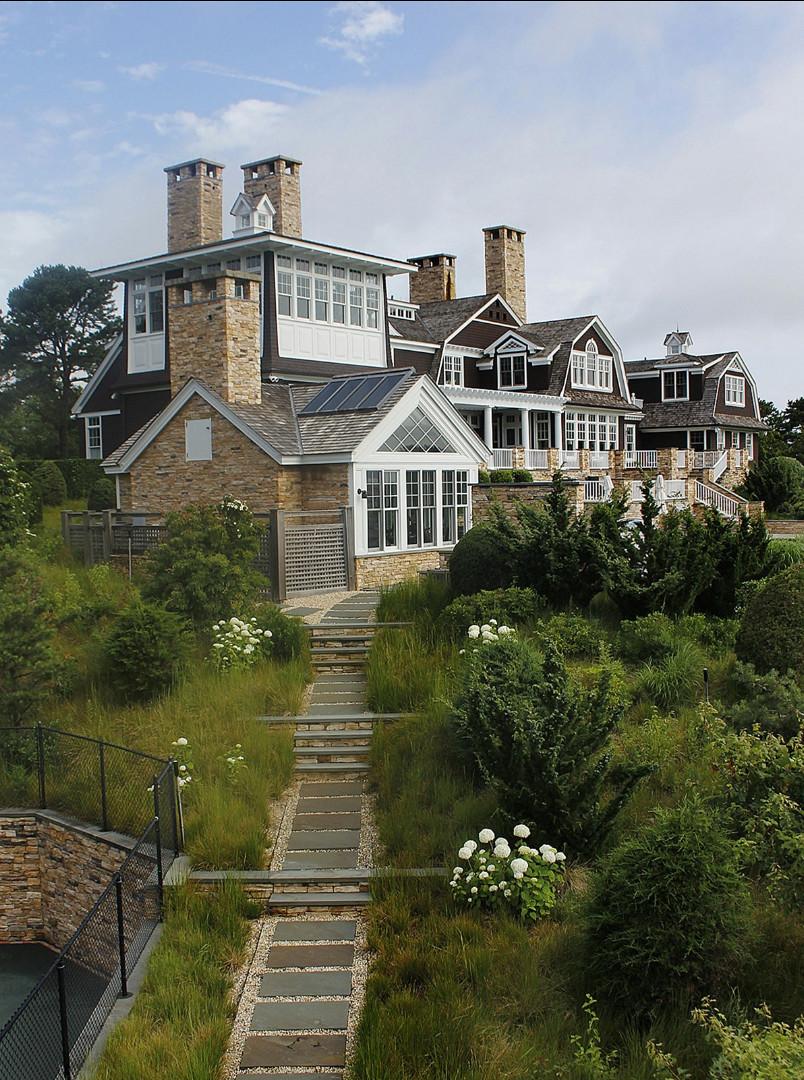 Shingle Home Ideas. Beautiful Hamptons Shingle Home. #ShingleHome #ShingleHomes