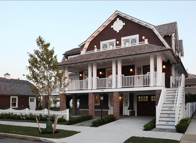 Shingle Home Ideas. Shingle Home Exteriors. #ShingleHomes #HomeExteriors Asher Associates Architects.