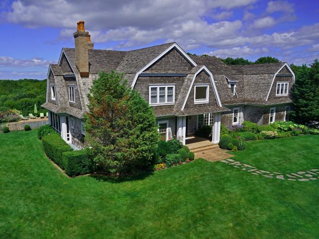 Shingle Home. Hamptons Shingle Home #HamptonsShingleHome #ShingleHome Via Sotheby's Homes