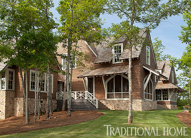 traditional lake house lake house with rustic interiors home bunch interior 71222