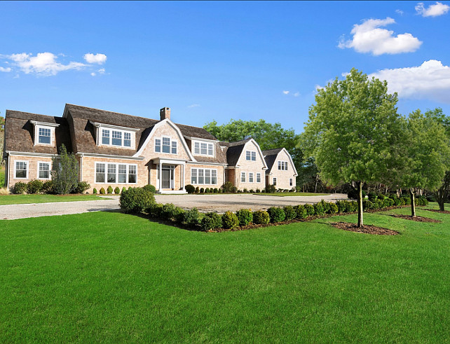 Shingle Style Homes. Hamptons Style Shingle Homes. #HamptonsShingleHomes #ShingleHomes #HamptonsHomeIdeas