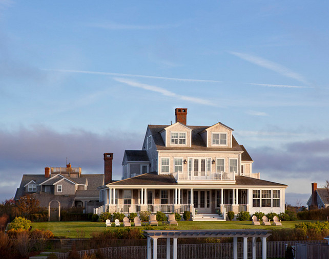Shingled Style Coastal Home. Shingle Coastal Home Ideas. Shingle Coastal Home Exterior. #ShingledCoastalHome #CoastalHome #ShingledHomes Jeannie Balsam LLC.