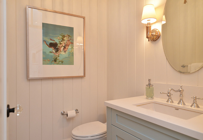 Shiplap Bathroom. Sunshine Coast Home Design.