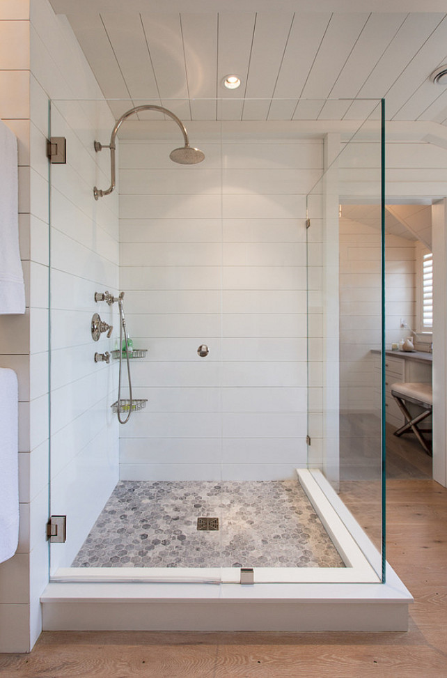"Top Shower Tiling Pin Shower Tiling. Shower Tiling. Bathroom Shower Tiling. The tiling in this shower is 1/2"" Corian sheet which were fabricated with an"" 1/8 wide cut 1/4"" deep every 7 1/2"" horizontally. The tilies mimic the shiplap walls in the bathroom. #Shower #tiling #corian #shiplap"
