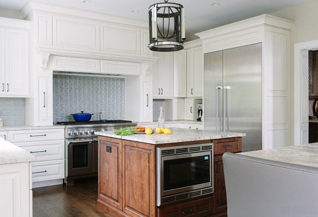 Before and after double island kitchen renovation home for Built in kitchen islands