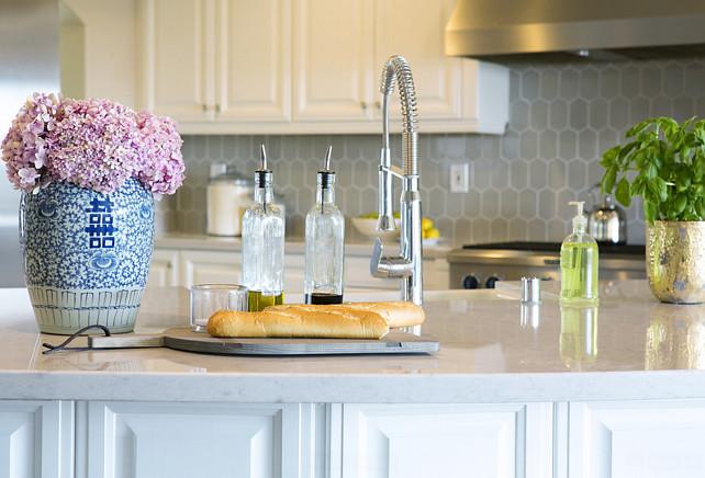 Silestone quartz Lagoon. Kitchen Marble-looking Countertop Silestone quartz Lagoon. #SilestonequartzLagoon Studio McGee.