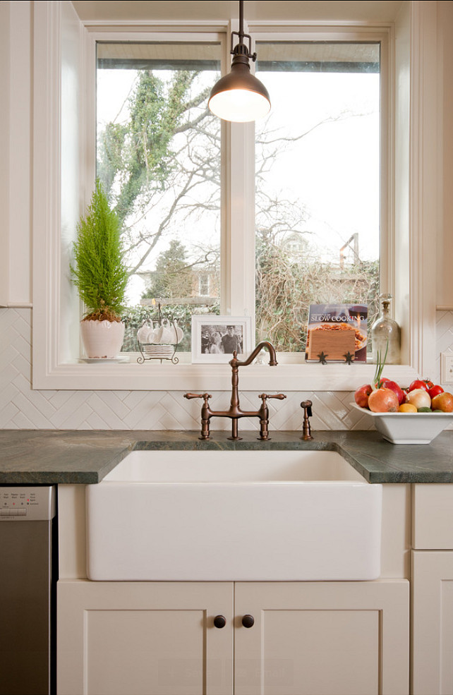 Sink. Kitchen Sink Ideas. #ApronSink #KitchenSink #KitchenSinkIdeas #FarmhouseSink Allard Ward Architects.