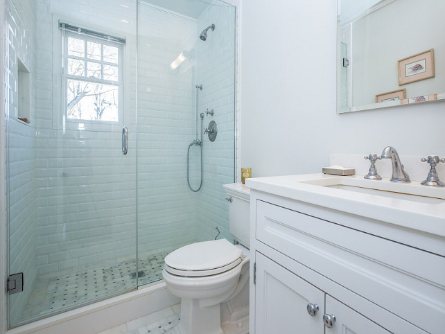 Small Bathroom Layout. Small White Bathroom. Small White Bathroom Layout. Small White Bathroom Layout Ideas. #SmallBathroom #WhiteBathroom #SmallBathroomLayout  Sotheby's Homes.
