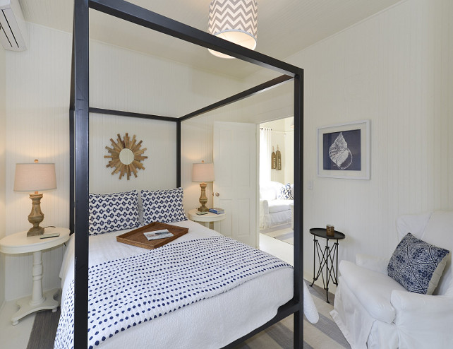 Small Coastal Bedroom. Small Coastal Bedroom with Canopy Bed. Small Coastal Bedroom with white & Category: Interior Design Product Review - Home Bunch Interior ...