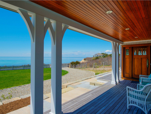 Porch with ocean view. This is my dream porch! I could spend an entire day watching the waves. #Porch