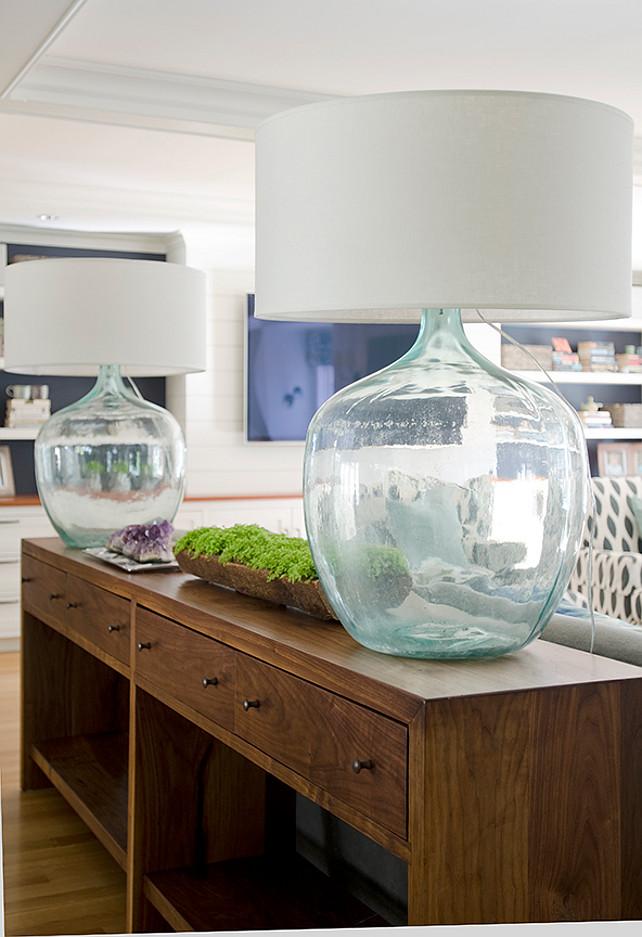 Sofa Table Lamp. Sofa Table Lamp Ideas. Sofa Table Lamps. Turquoise Sofa Table Lamp. #SofaTable #Lamp Kristina Crestin Design.