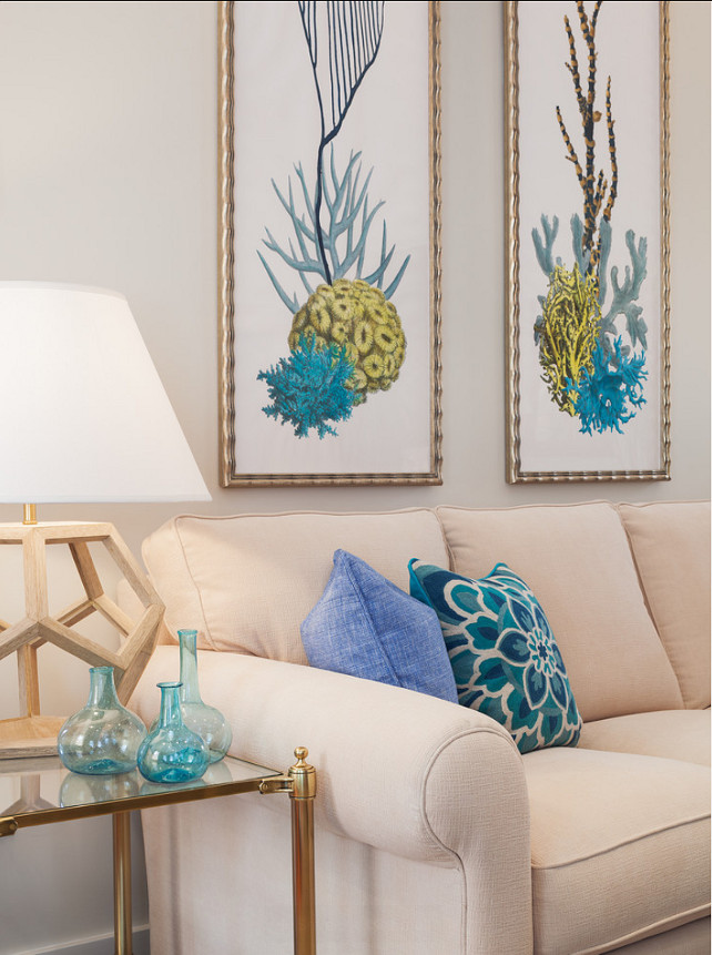 Coastal Decor Ideas. Blue and white, coastal decor ideas. #BlueWhiteDecor #CoastalDecor