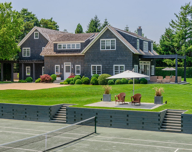 Southampton House for Sale with Tennis Court. #Southampton #HouseforSale Via Sotheby's Homes.
