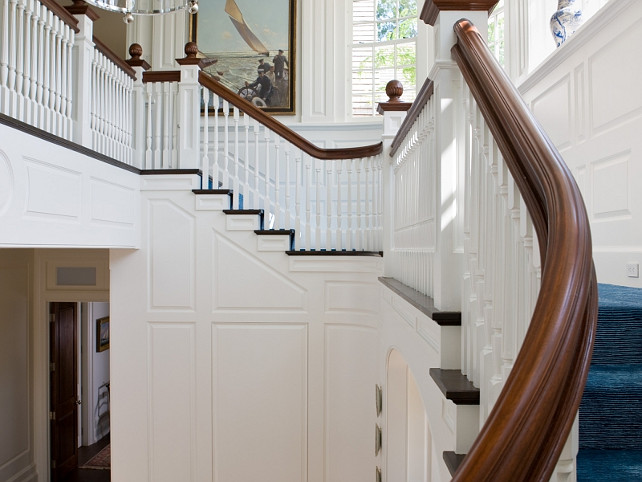 Staircase paneling. Traditional Staircase paneling. Staircase paneling design. Staircase paneling ideas. #Staircase #paneling SLC Interiors.