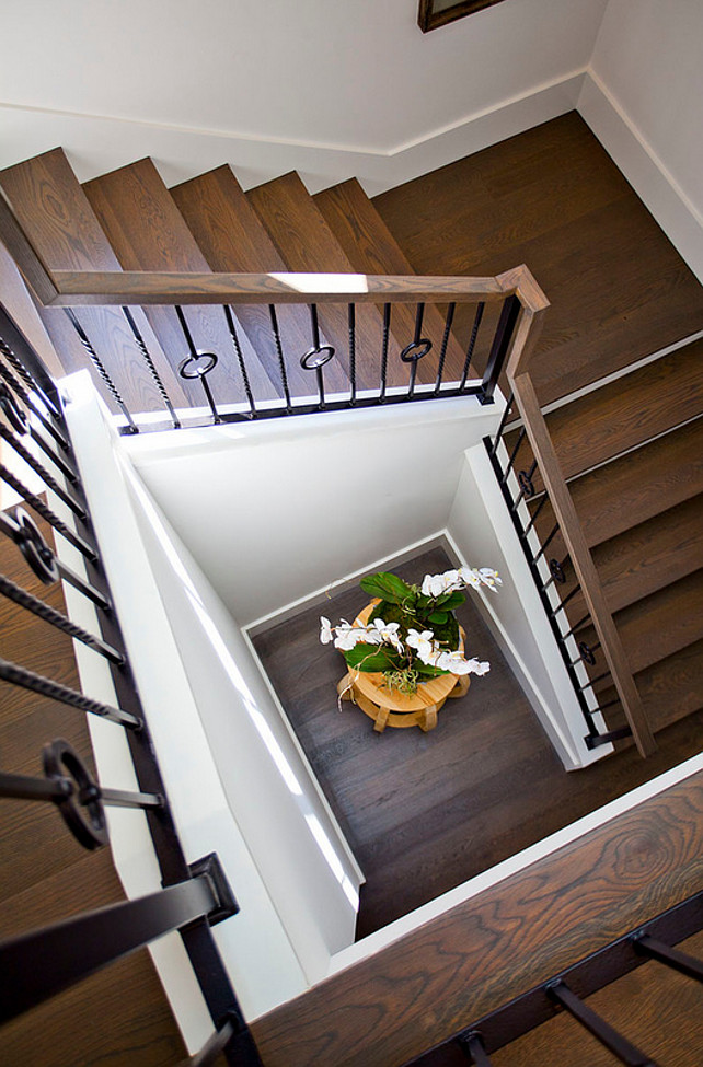 Staircase wooden floor ideas. Staircase wooden floor and custom railing. #Staircasewoodenfloor