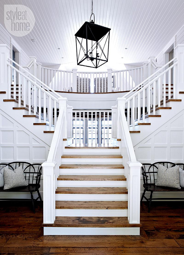 Split Foyer Staircase Ideas : Lake muskoka cottage with coastal interiors home bunch