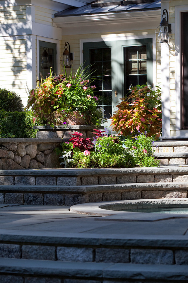 Stone Patio. Stone patio steps. Anthony Crisafulli Photography. Sudbury Design Group.