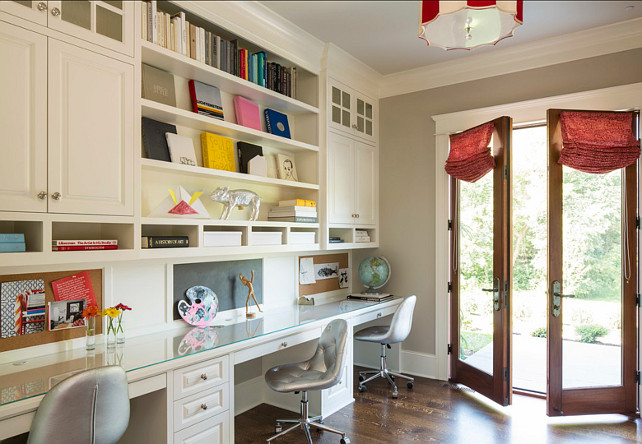 Study. Kids Study Design. Cabinets Are Painted In Benjamin Moore White Dove  OC17 #