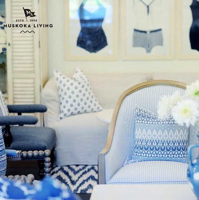 Summer Fabric Ideas. Summer Fabric. Summer Fabric Inspiration. Muskoka Living Interiors.