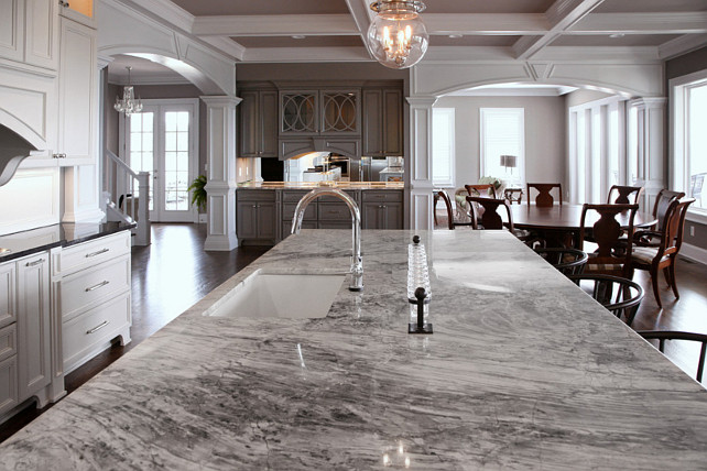 Super White Quartzite. Kitchen Countertop Ideas. #SuperWhiteQuartzite #KitchenCountertopIdeas