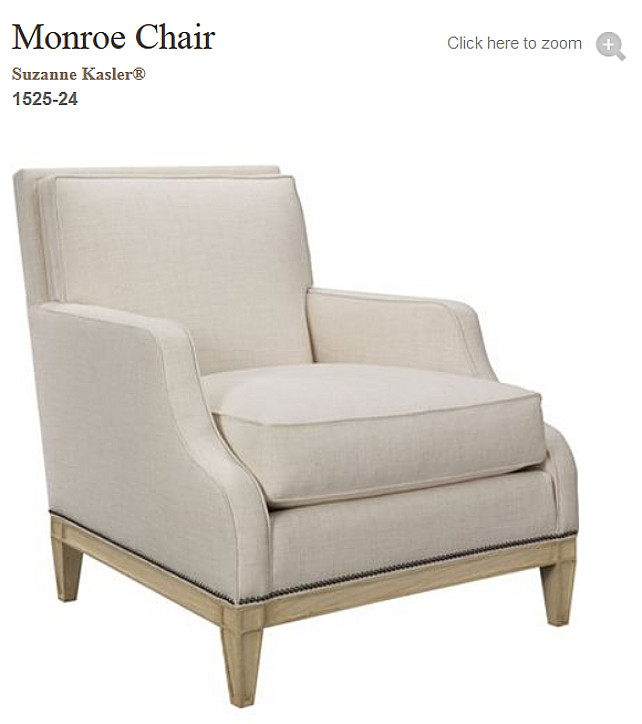 Suzanne Kasler Monroe Chair for Hickory Chair. #MonroeChair #HickoryChair #SuzanneKasler