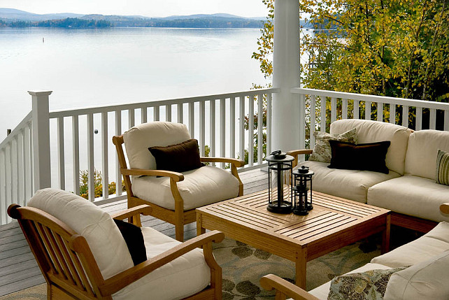 Patio. What an inspiring patio and view! #patioDecor