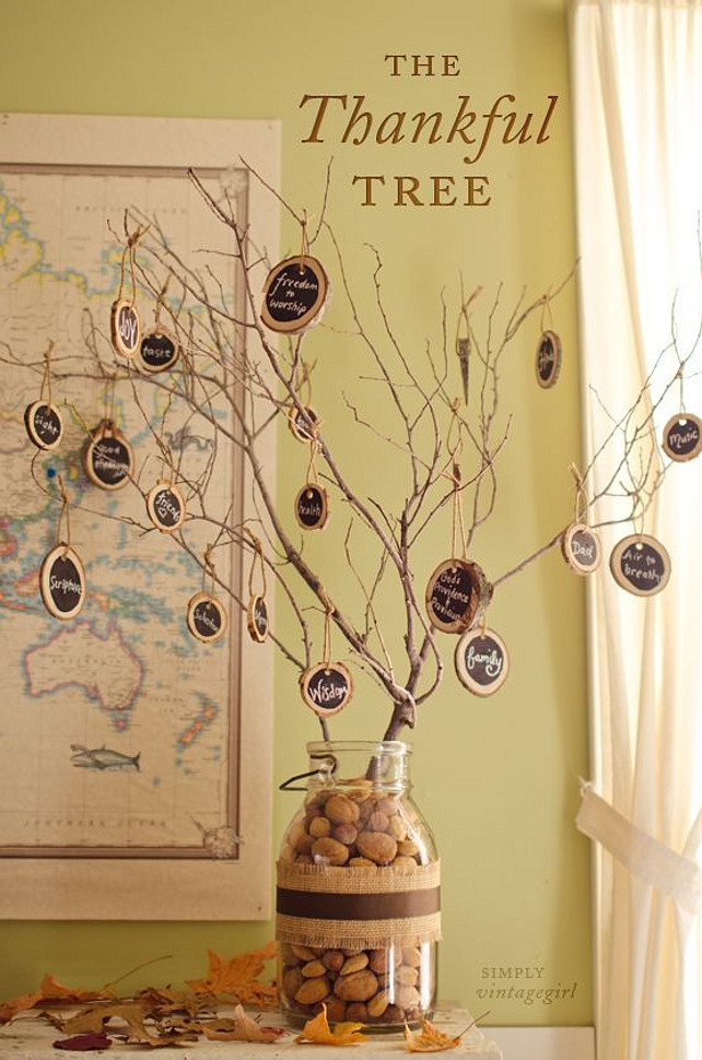 Thankful Tree Ideas For Thanksgiving Diy Graude