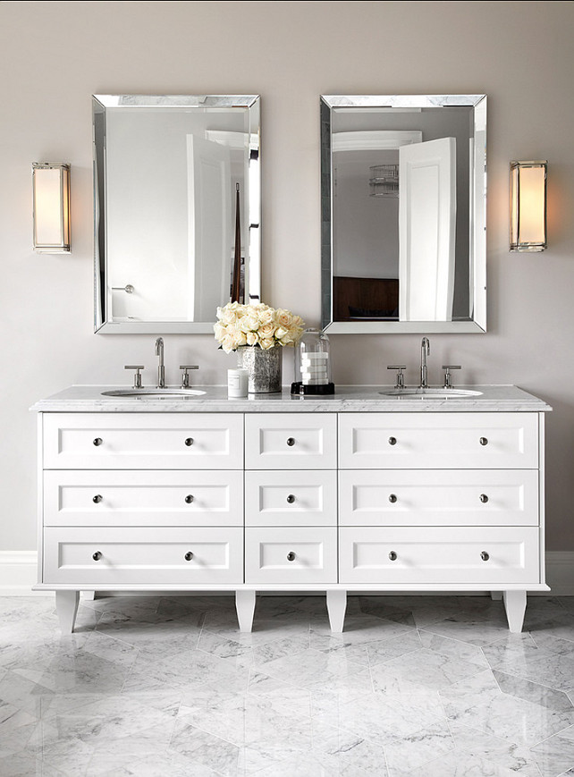 Bathroom Vanity Design. Classic bathroom vanity design. #BathroomVanityDesign