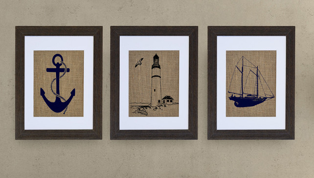 The Nautical Art, Lighthouse, Anchor, Schooner