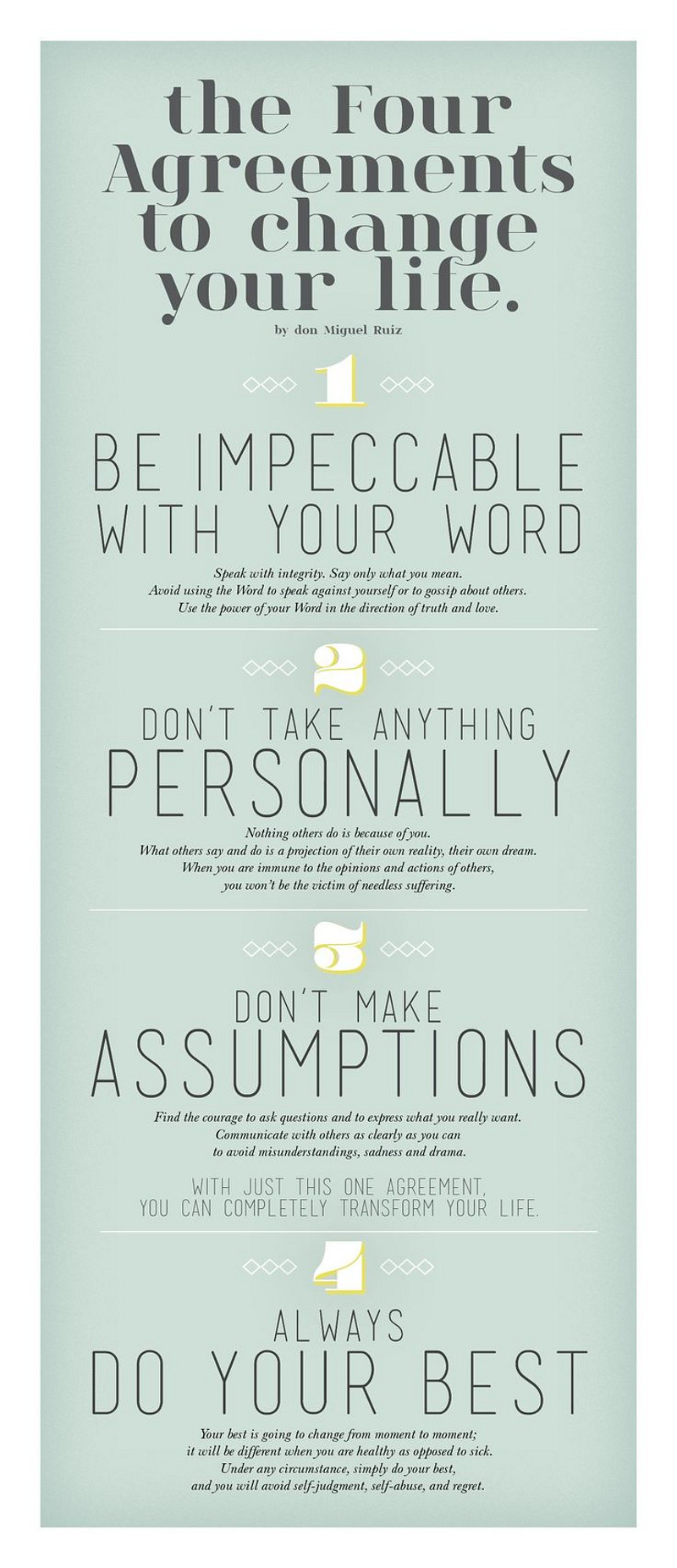 The four agreements to change your life by Miguel Ruiz.