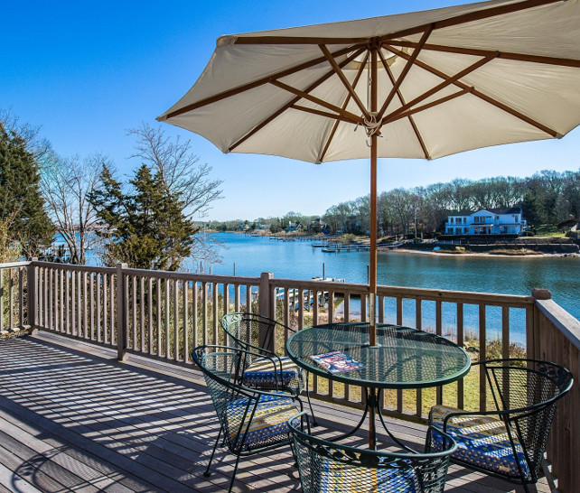 This deck is simple but the view is what wins you over. #deck #view #Cottage  Sotheby's Homes.