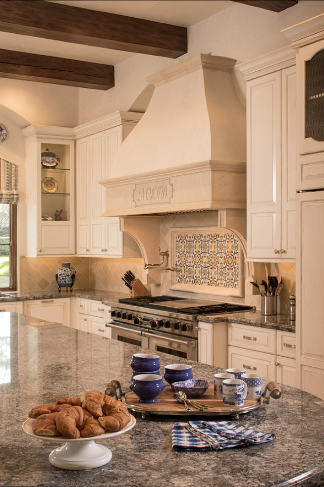 Traditional Kitchen Design. This European inspired kitchen is traditional and timeless. #Kitchen