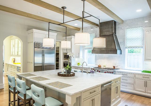 Transitioanl Kitchen. Transitioanl Kitchen with beams. Kitchen Ceiling Beams. #Kitchen #KitchenCeilingBeams #Beams Avrea Wagner Interiors. Avrea Wagner Interiors.